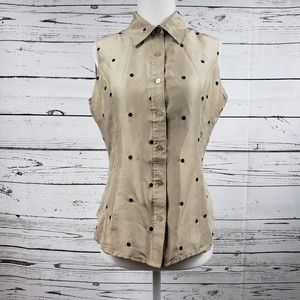 Silkland Polka dotted Blouse in small
